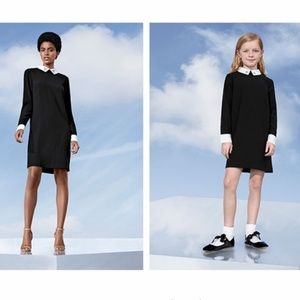 Victoria Beckham target dress black with white